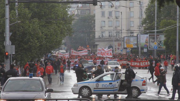 Шествието на ЦСКА достигна до Националния стадион