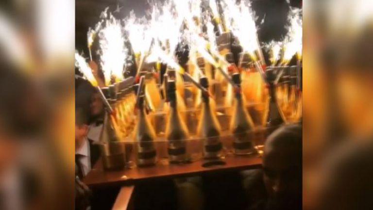 Руски национали черпят с шампанско