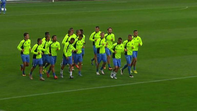 Левски започна тренировката си преди сблъсъка с Марибор
