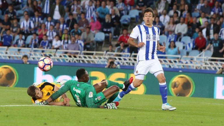 На Реал Сосиедад му остана да стиска палци за Барса
