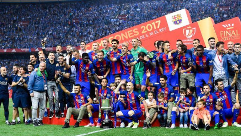 Барселона триумфира с Купата на краля и взе утешителен трофей (видео + галерия)