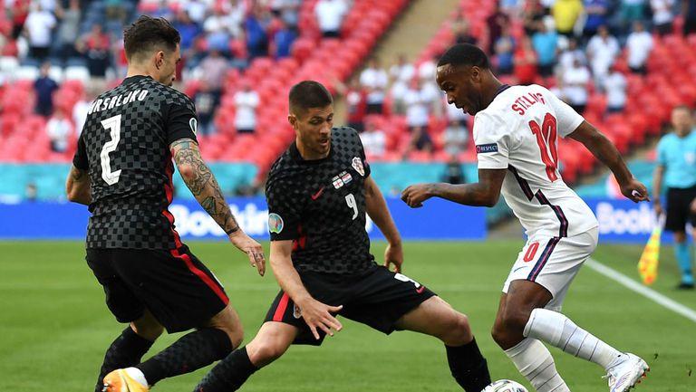 Англия взе аванс срещу Хърватия с гол на Стърлинг