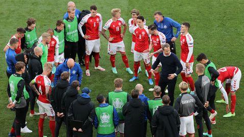Селекционерът на Дания: Кристиан се притеснява повече за нас, подновяването на мача беше грешка