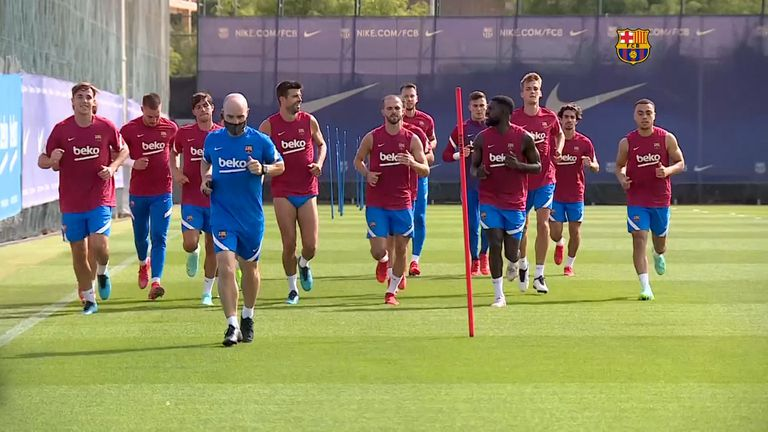 Браселона проведе първа тренировка в предсезонната подготовка