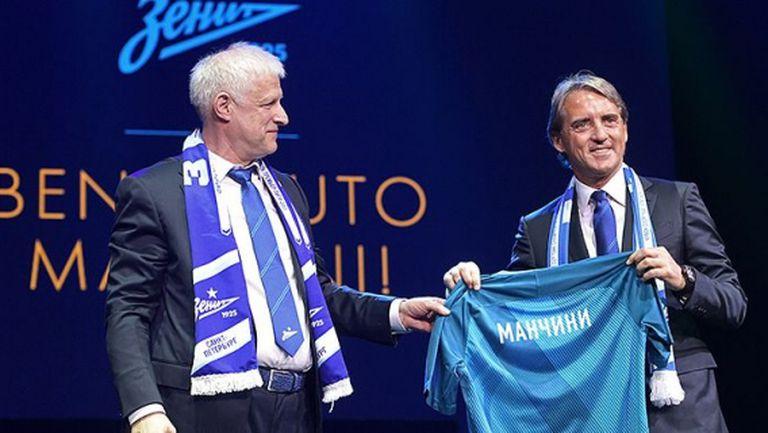 Зенит представи Манчини, той обеща титла и успехи в Европа