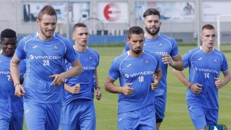 Новото попълнение на Левски с първа тренировка (видео)