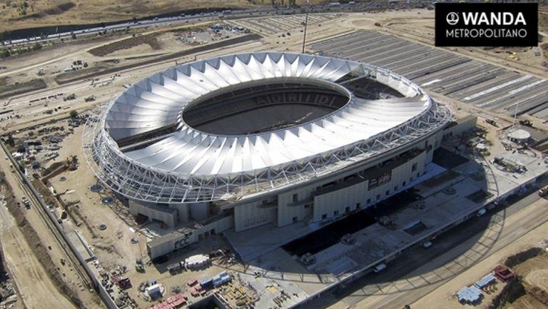 Новият стадион на Атлетико от въздуха (галерия)
