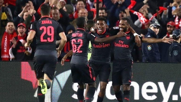 Лаказет дебютира с гол за Арсенал (видео)