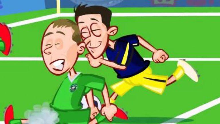 Голът на Йозил срещу Лудогорец стана анимационен хит