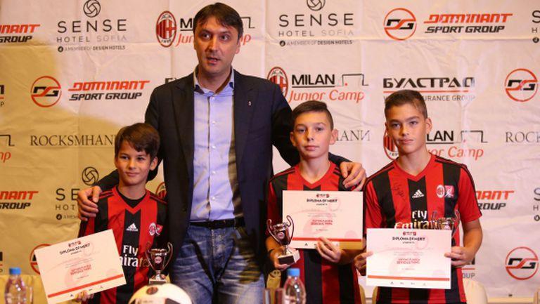 Обявиха имената на треньорите, които ще ръководят Milan Junior Camp