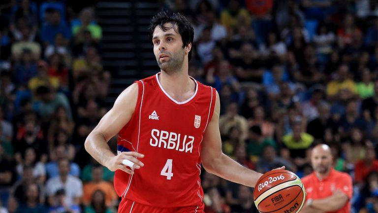 Милош Теодосич в състава на Сърбия за олимпийската квалификация