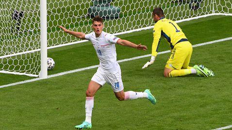 Чехия взе своето срещу Шотландия в Глазгоу, Патрик Шик с невероятен гол от центъра