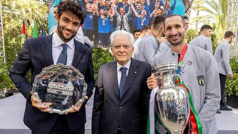 Беретини на прием при италианския президент