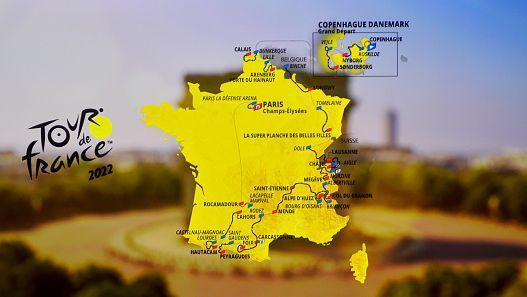 Обявиха маршрута на Тур дьо Франс 2022