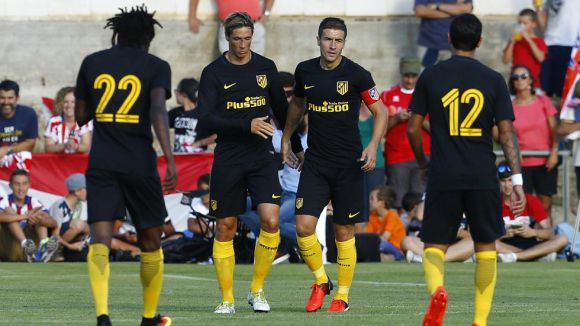 Атлетико започна с победа и гол на Торес (видео)
