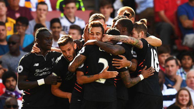 Ливърпул обърна Арсенал в лудо дерби със седем гола (видео)