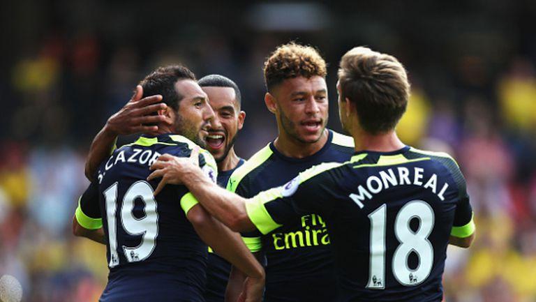 Първа победа за Арсенал през новия сезон (видео)