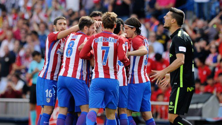 """Атлетико разтърси """"Калдерон"""" с голове преди визитата си на Барса (видео)"""