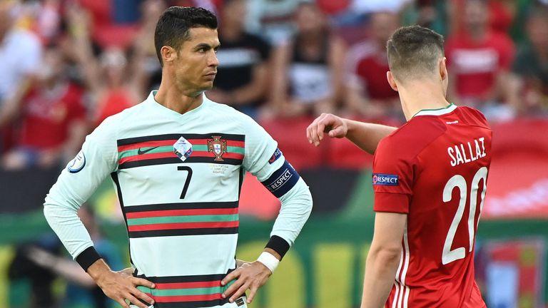 На почивката: Унгария 0:0 Португалия, Роналдо с голям пропуск (гледайте тук)