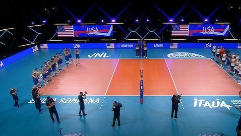 Лига на нациите (мъже): Италия - САЩ 0:3