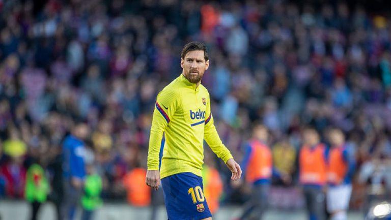 Меси тренира с Барселона