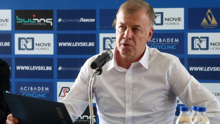 Сираков: В момента в касата на клуба има 100 000 лв.
