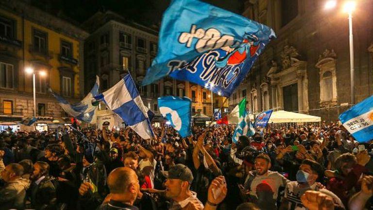 Празненства в Неапол след триумфа на Наполи