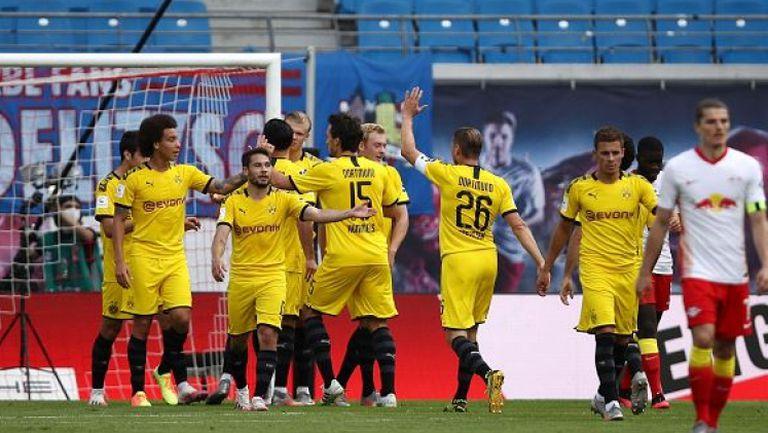 Борусия (Дормунд) си осигури второто място след победа над РБ (Лайпциг)