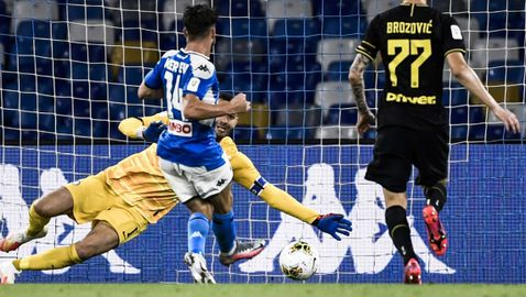 Наполи удържа Интер и е на финал за Купата на Италия (видео)