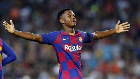 Барселона отказа 150 милиона от Манчестър Юнайтед за Фати