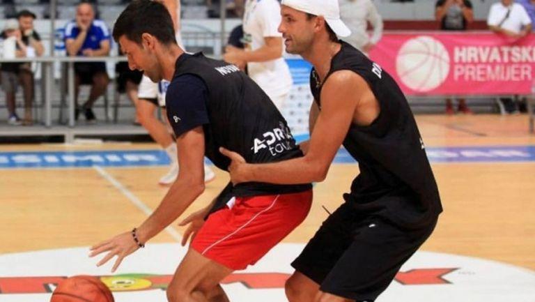 Григор срещу Джокович и на баскетбол (видео)