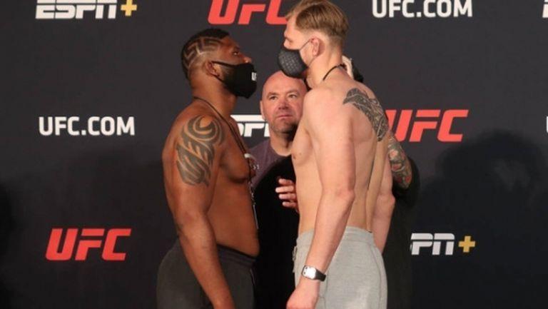 Къртис Блейдс е по-тежък от Александър Волков с над 6 кг преди UFC on ESPN 11 (видео)