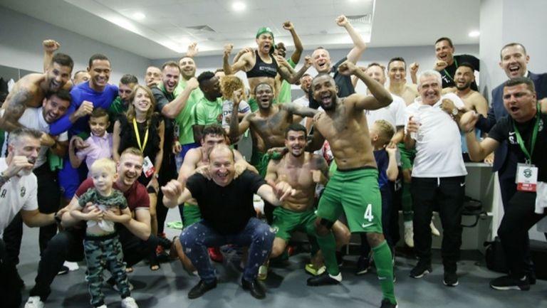 Лудогорец празнува Деветата! Домусчиев поздрави шампионите! (снимки)