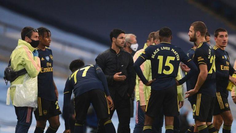 Плановете в Арсенал за дербито със Сити се объркали заради положителен тест за COVID-19