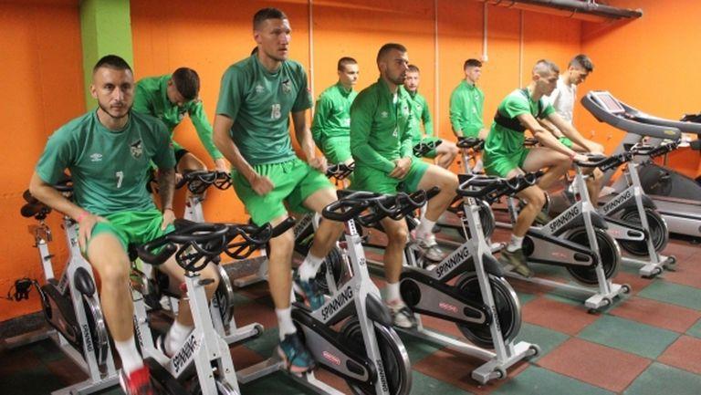 Футболистите на Пирин наблегнаха на фитнеса