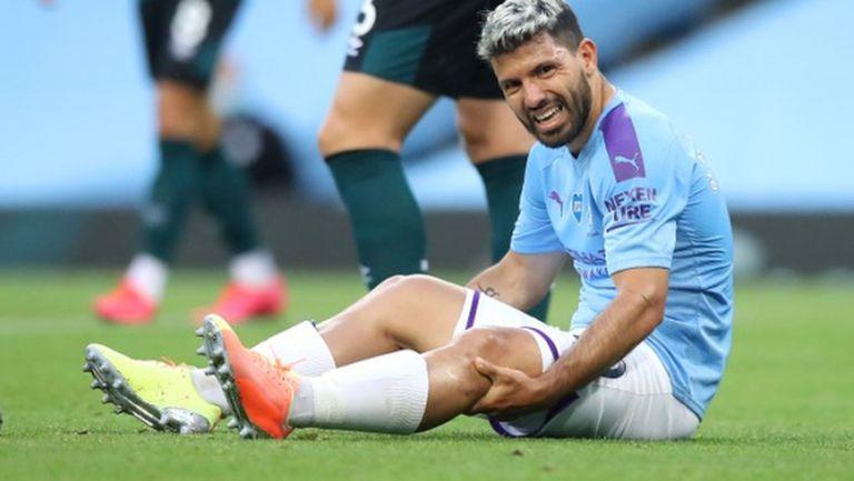 Агуеро с увредено коляно, отива в Барселона