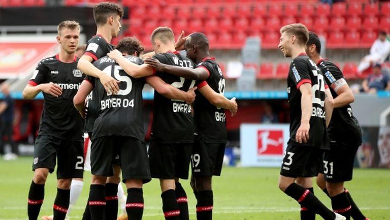 Леверкузен завърши сезона с победа, но няма да играе в ШЛ (видео)