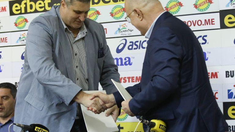 Любо Ганев подписа договор за третия сезон на скаут лигата (видео + галерия)