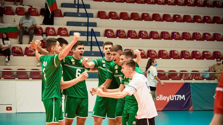 България U17 ще играе за 5/8-о място на ЕвроВолей🏐