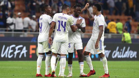 Реал Мадрид излъга Интер в края с гол на резерва (видео)