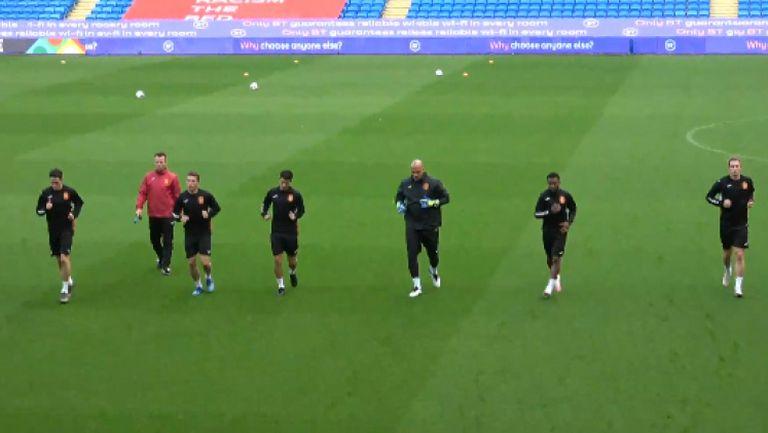 Националите направиха официална тренировка в Кардиф преди мача с Уелс