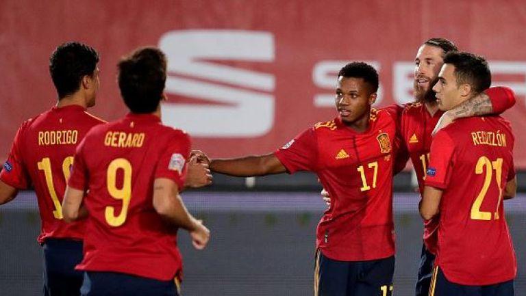 Прекрасен гол на Ансу Фати и Испания поведе на Украйна с 3:0