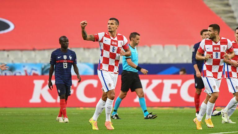 Хърватия поведе на Франция с хубав гол на Деян Ловрен