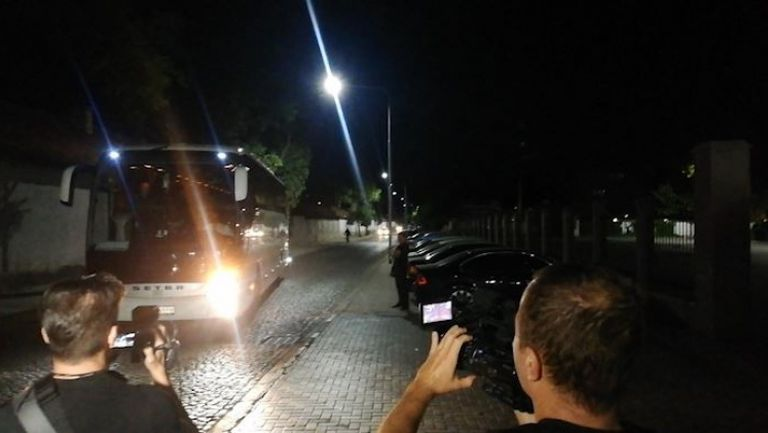 Отборът на Тотнъм пристигна в хотела си в Пловдив