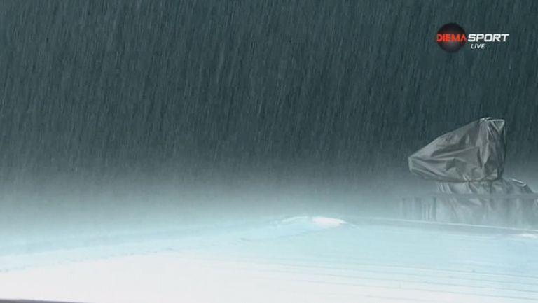 Зловеща буря и порой прекратиха за 25 минути Лудогорец - Берое