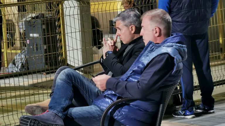 "Наско Сираков и Павел Колев гледат Ботев - Левски до тунела в ""Коматево"""