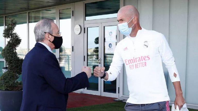 Флорентино посети тренировката на Реал Мадрид