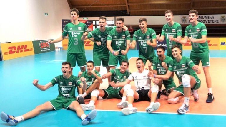 България U18 е на полуфинал на Евроволей (снимки)