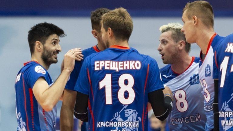 Феноменален Тодор Скримов заби 19 точки (7 аса) и донесе победа на Енисей (видео + галерия)