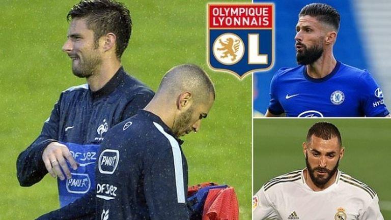 Жиру отказал трансфер в Лион, причината е Бензема